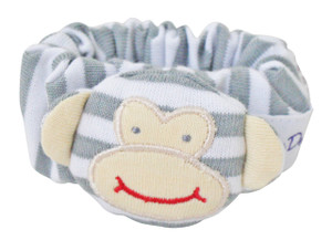Alimrose monkey wrist rattle - Grey