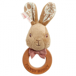 Beatrix Potter - WOODEN RING RATTLE: FLOPSY BUNNY SIGNATURE COLLECTION