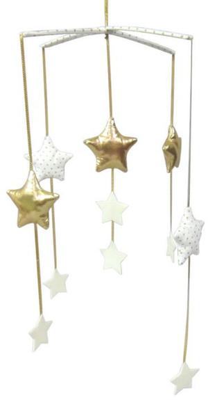 Alimrose - Falling Star Mobile - Gold & Ivory