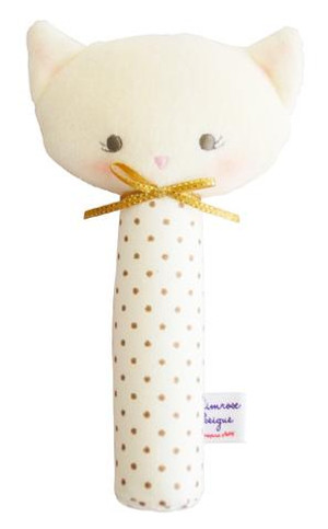 Alimrose - Hand Squeaker Kitty Gold