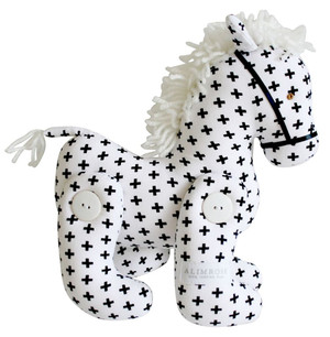 Alimrose - Swiss Cross Monochrome Horse Jointed Pony