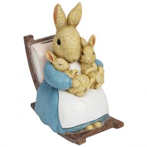 Peter babbit - mrs rabbit figure moneybox