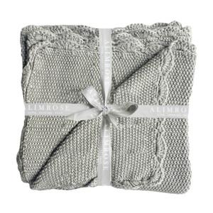 Alimrose Designs Grey Moss stitch  Organic Cotton Blanket