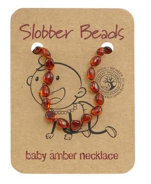 Cognac Baltic amber beads- baby