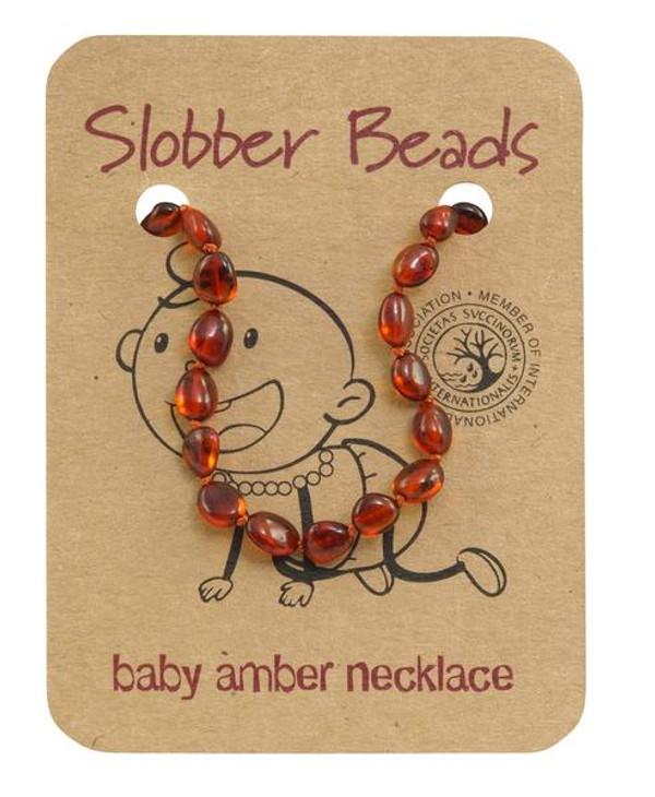 Toddler baltic amber necklace- cognac
