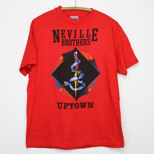 Neville Brothers Uptown Shirt Vintage tshirt 1987 Aaron Neville Art Ivan Cyril Charles 1980s Rhythm And Blues Funk Soul Music Band R&B