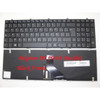 Laptop Keyboard For CLEVO W370ET MP-13H86B0J430 6-80-W6700-241-1 6-80-W6700-242-1 Belgium BE With Black Frame And Backlit