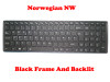 Laptop Keyboard For Gigabyte P37K P37K V3 P37X V4 P37X V5 P37X V6 P37X V6-PC4D P37X V6-PC4K4D Norwegian NW With Black Frame And Backlit