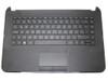 Laptop PalmRest&keyboard For HP 14-D000 Black C Shell 747282-161 550134Y00563-G With Black Keyboard Latin LA Used