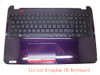 Laptop PalmRest&keyboard For HP 15-D000 750196-031 1A32FUL00600G Purple C Shell With Black Keyboard United Kingdom UK