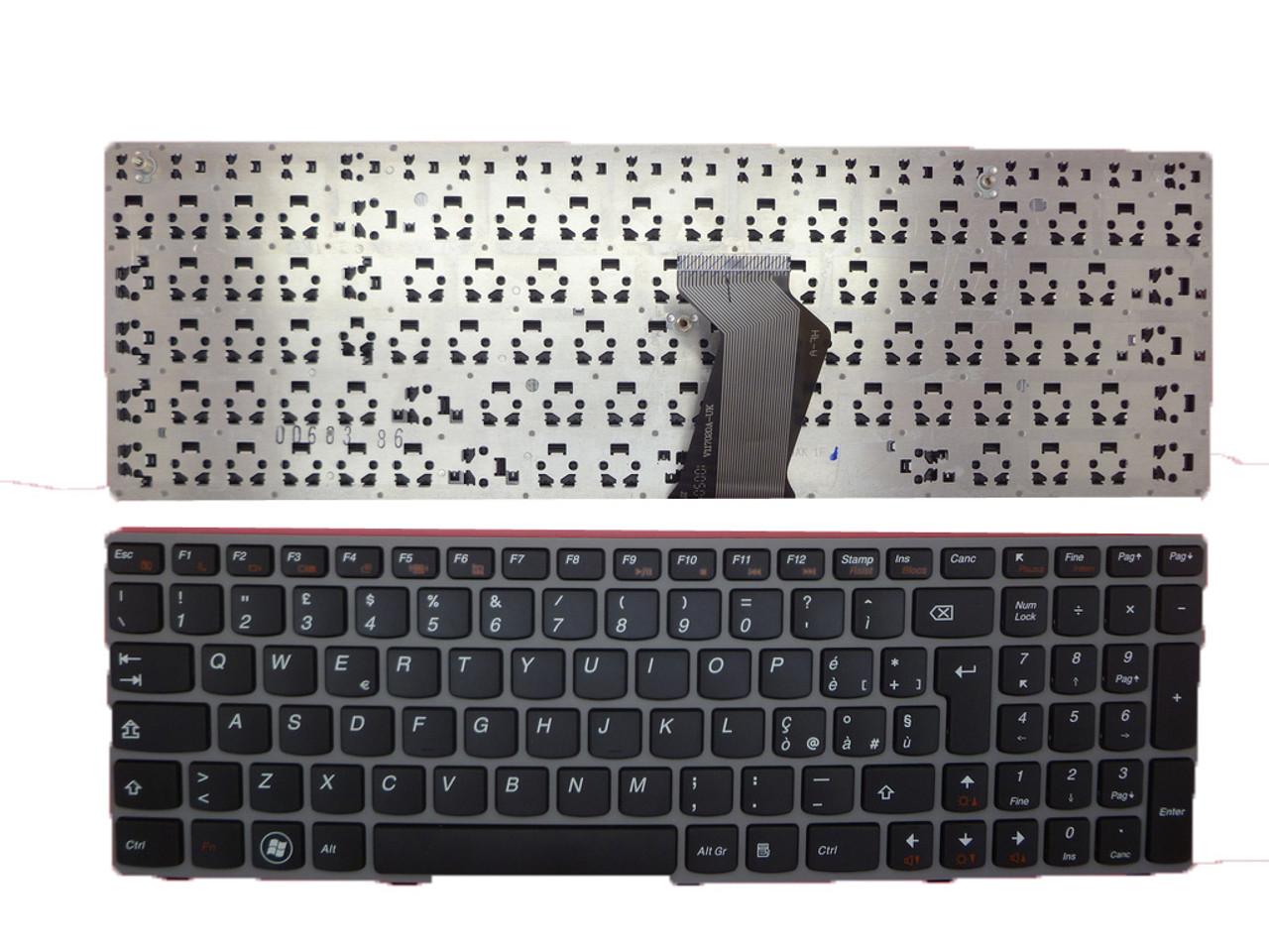 Laptop Keyboard for Lenovo Z560 Z560A Z565 Z565A G570 G575 Italy ...