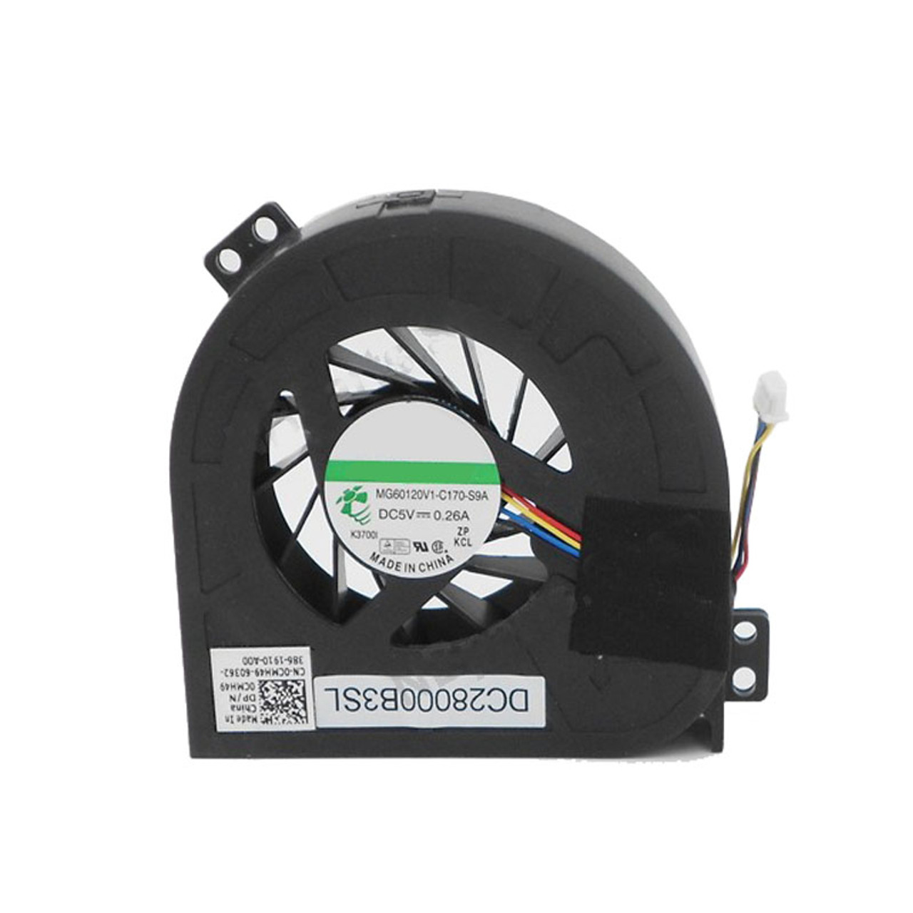 Laptop GPU Fan For DELL Precision M4700 P21F DC28000B3SL MG60120V1-C170-S9A  0CMH49 CMH49 DC5V 0 26A new