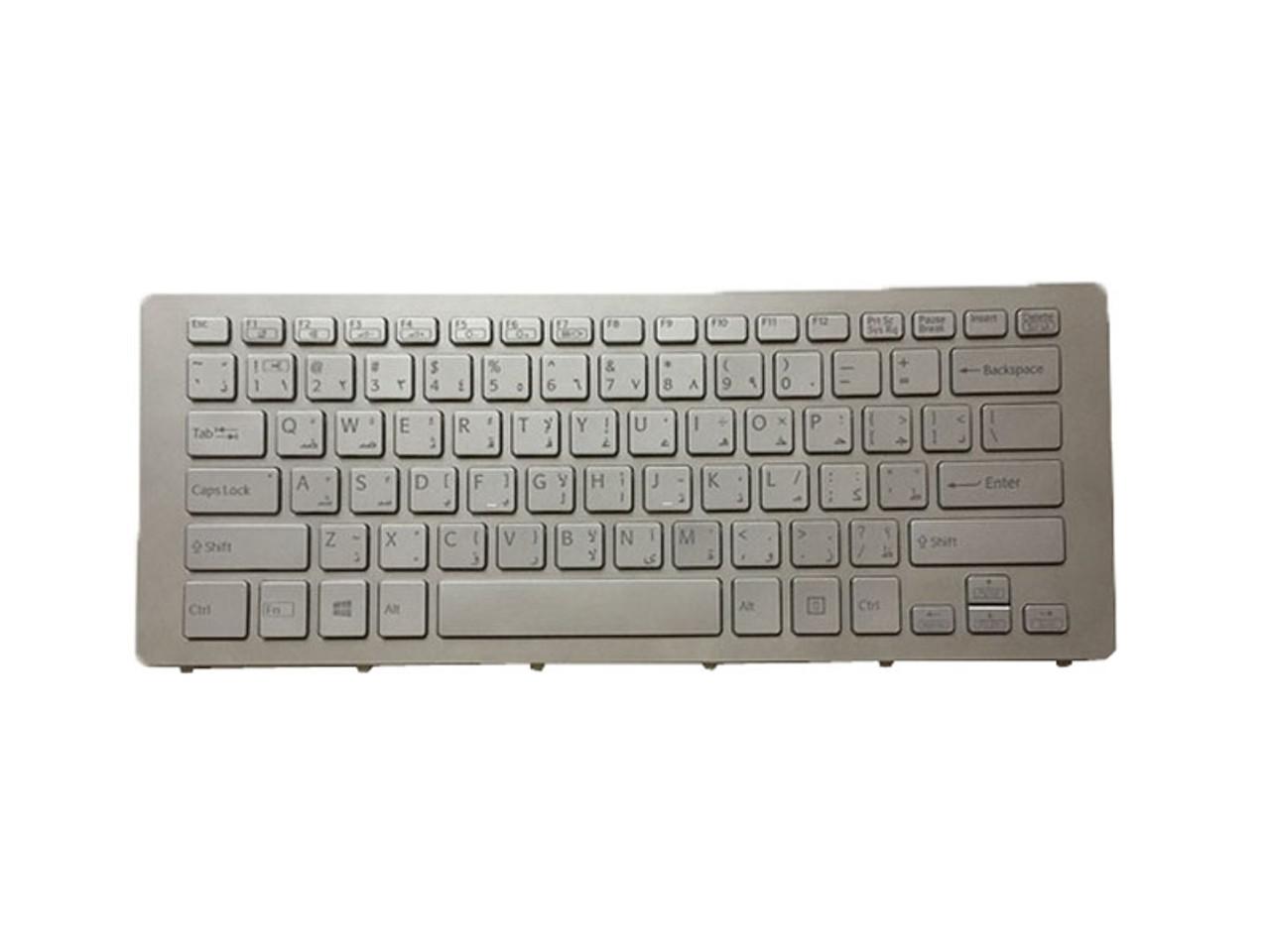 Laptop Keyboard for Sony VAIO SVF15A 9Z.NACSQ.00L 149241591GR AEGD6+000103A Greece GK Black