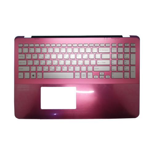 Laptop Palmrest For SONY VAIO SVF15A Series pink with Greek GK backlit keyboard 5JGD6PHN050 upper case used