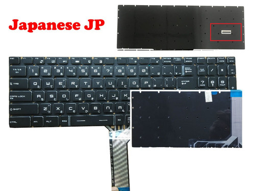 Laptop Backlit Keyboard For MSI WS75 WE65 WE73 WE75 GS75 GL62VR GL62VR 7RFX GL62MVR GL62MVR 7RFX 7REFX Japanese JP Crystal Keycap