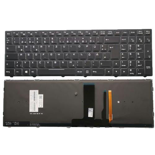 (Only 1 screw post) Laptop Keyboard For CLEVO N850 N850EK1 N855EK1 N857EK1 N860EK1 N850HK1 N870HK1 N850EJ1 N855EJ1 N857EJ1 N870EJ N870EJ1 N871EJ1 German GR Black Frame With Backlit