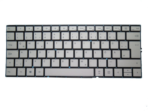 Keyboard For Microsoft Surface Book 2 15'' 1793 1813 Silver German GR