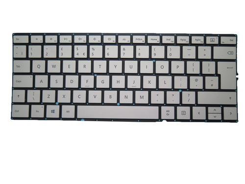 Dock Keyboard For Microsoft Surface Book 2 15'' 1793 1813 Silver United Kingdom UK