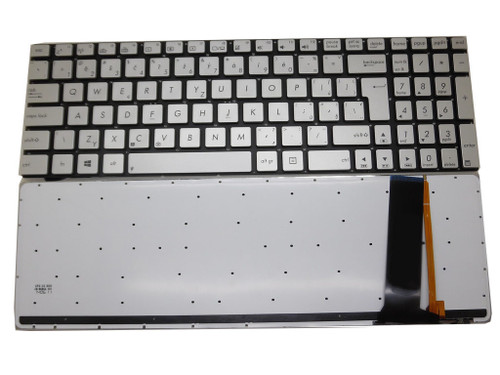 Laptop Keyboard For ASUS N76V N76VB N76VJ N76VM N76VZ Silver CZ CZECH Without Frame With Backlit