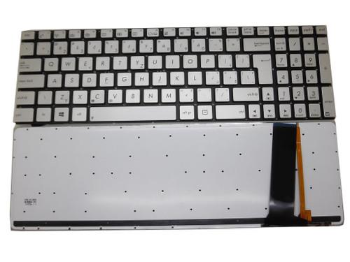 Laptop Keyboard For ASUS G550J G550JK G550JX GL550J GL550JK GL550JX Silver CZ CZECH Without Frame With Backlit