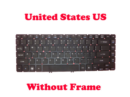 Laptop Keyboard For Acer Aspire M5-481 M5-481G M5-481PT M5-481PTG V5-431 MS2360 V5-471 V5-471G V5-471P V5-471PG EC-470G MP-11F7 English US NO Frame & NO Backlit