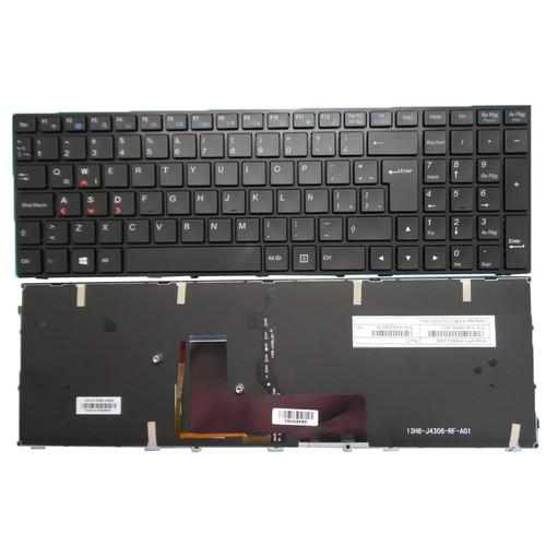 Laptop Backlit Keyboard For CLEVO P650RA P650SA P650SE P650SG P651SA P651SE P651SG P655RA P655SA P655SE Latin America LA Black Frame