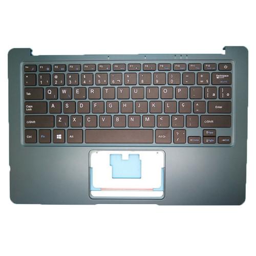 Laptop Blue PalmRest& BR Keyboard For Multilaser PC205 ml-cn01 PC206 PC207 PC205 ML-CN01 Brazil BR NO Touchpad
