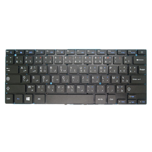 Laptop Keyboard SCDY-277-10-05 YXT-NB91-05 YT-277-16-01 K2878 VER:A0 Arabic French AR-FR black without frame new