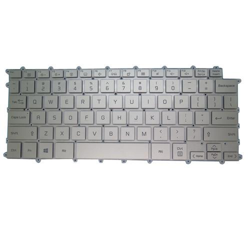Laptop Backlit Keyboard For LG 14Z90P-GA50K 14Z90P-GA76K 14Z90P-G.AA55A3 14Z90P-G.AA79G 14Z90P-G.AH75A5 United States US NO Frame Silver With Backlit