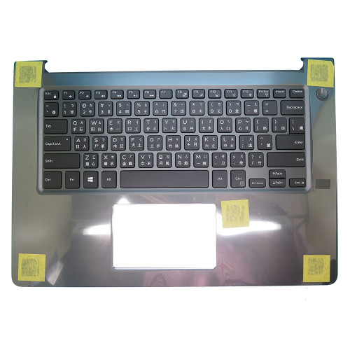 Laptop Palmrest For DELL Vostro 14 5468 V5468 P75G 0PTGCR PTGCR Gray with Traditional Chinese TW backlit keyboard without finger hole upper case new