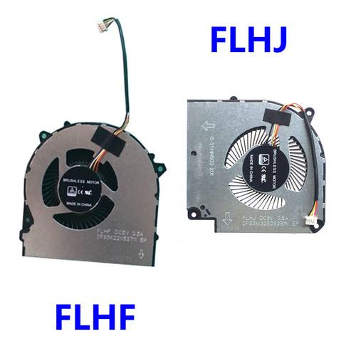 Laptop 4PIN CPU GPU FAN For CLEVO NH50ED 6-31-HN503-201 FLHF DFS5K221153711 FLHJ DFS5M325063B1N VGA NH50RD NH57ED NH57RD DC5V 0.5A (4 Lines)