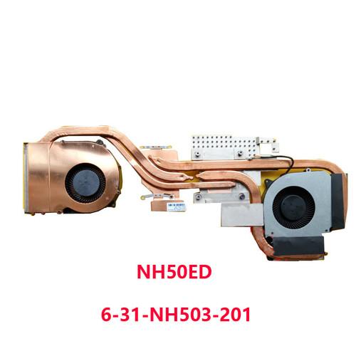 Laptop 4PIN CPU GPU FAN&Heatsink For CLEVO NH50ED 6-31-HN503-201 FLHF DFS5K221153711 FLHJ DFS5M325063B1N VGA NH50RD NH57ED NH57RD DC5V 0.5A (4 Lines)