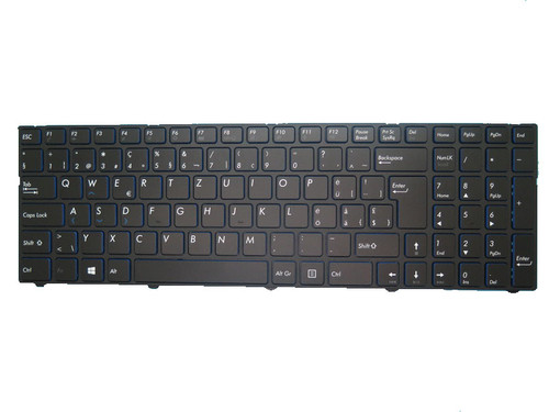 Laptop Keyboard For MEDION AKOYA P7645 MD60284 MD60328 MD60437 MD60438 MD60610 MD60636 Black With Frame Swiss German SG Blue edge