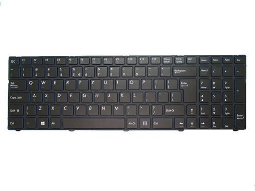 Laptop Keyboard For MEDION AKOYA E7415 MD60392 MD99151 MD60013 MD60181 MD60123 MD99154 MD99153 MD60087 MD60088 MD60367 MD60267 MD60179 MD99487 MD99902 MD99294 Black With Frame INTERNATIONAL English UI Blue edge