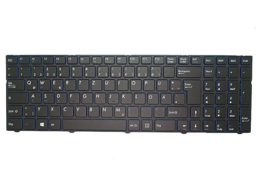 Laptop Keyboard For MEDION AKOYA E7415 MD60392 MD99151 MD60013 MD60181 MD60123 MD99154 MD99153 MD60087 MD60088 MD60367 MD60267 MD60179 MD99487 MD99902 MD99294 Black With Frame German GR Blue edge