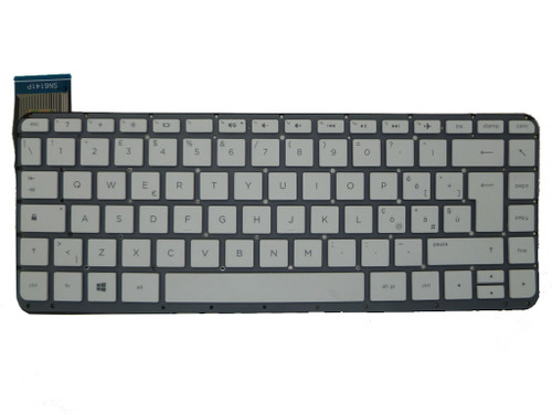 Laptop Keyboard For HP 13-C031TU 13-C032TU 13-C033TU 13-C034TU 13-C035TU 13-C036TU 13-C039TU 13-C040TU 13-C041TU 13-C042TU 13-C043TU 13-C044TU 13-C077NR 13-C078NR Italy IT White Without Frame