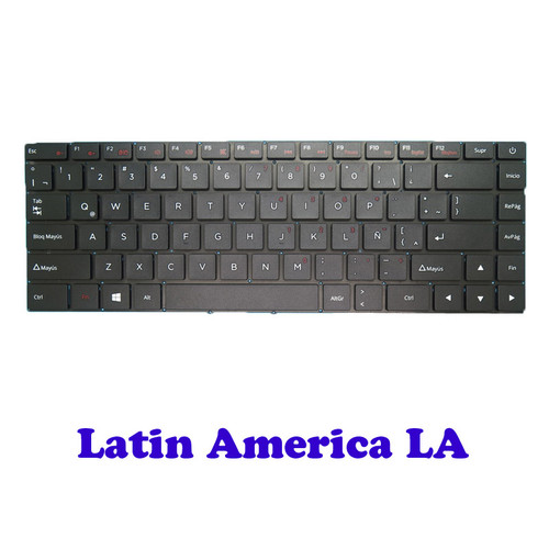 Laptop LA Layout Keyboard For Positivo Motion C41 C41TCI C41TC C41TA C4500C Latin America LA NO Frame