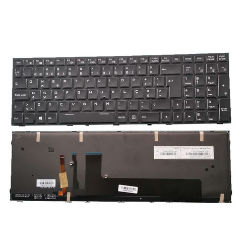 Laptop Keyboard For CLEVO P650RS P650RS-G P651RS P651RS-G P670RS(-G) P671RS(-G) P670RP6(-G) P671RP6(-G) P650HP6(-G) P651HP6(-G) Portugal PO Black Frame And Backlit