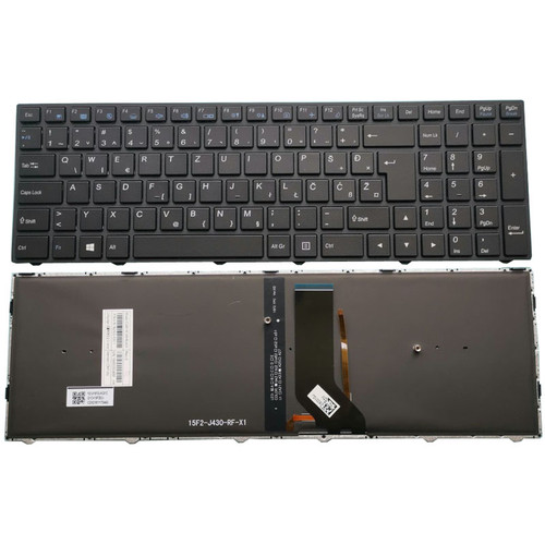 Laptop Keyboard For CLEVO N250JU N250LU N250PU N251BU N251JU N251LU N251PU N252BU N252PU Slovenian SL Black Frame And Backlit