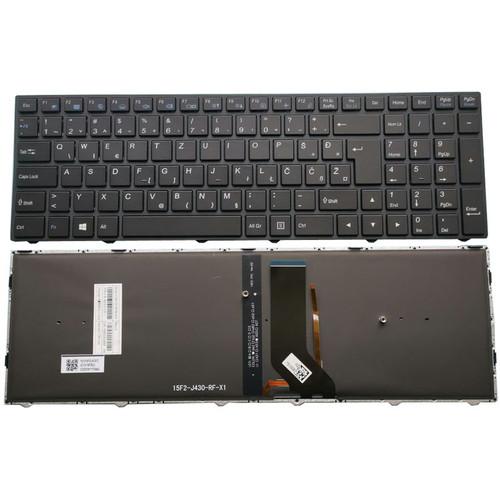 Laptop Keyboard For CLEVO N250 CVM15F26HRJ430 6-80-N2500-530-1 Slovenian SL Black Frame And Backlit
