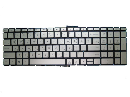 Laptop Keyboard For HP 17-AK000 silver with backlight Without Frame Korean KR 919794-AD1