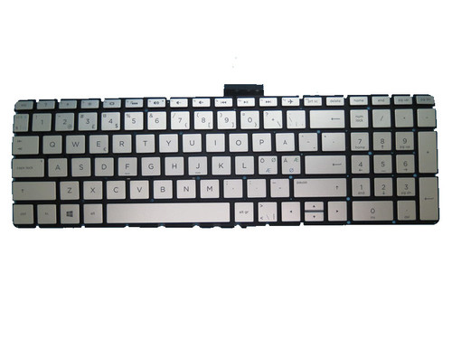 Laptop Keyboard For HP 17-AK000 silver with backlight Without Frame Nordic NE 919794-DH1