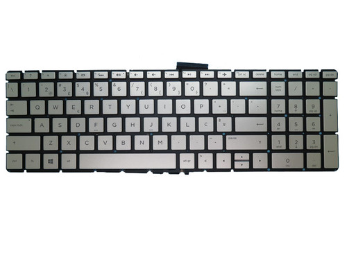 Laptop Keyboard For HP 17-AK000 silver with backlight Without Frame Portuguese PO 919794-131