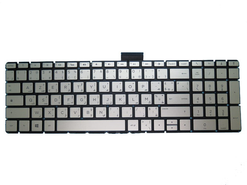 Laptop Keyboard For HP 17-BS000 silver with backlight Without Frame Arabic French ARFR