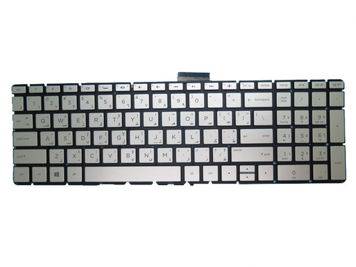 Laptop Keyboard For HP 17-BS000 silver with backlight Without Frame Arabia AR