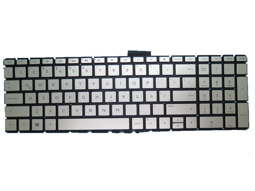 Laptop Keyboard For HP 17-BS000 silver with backlight Without Frame Latin America LA