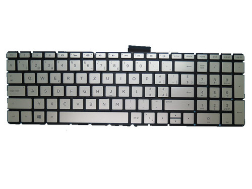 Laptop Keyboard For HP 17-BS000 silver with backlight Without Frame Swiss SW