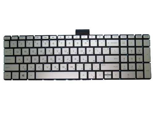 Laptop Keyboard For HP 250 G6 255 G6 256 G6 silver with backlight Without Frame Bulgaria BG