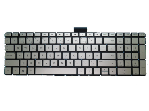 Laptop Keyboard For HP 250 G6 255 G6 256 G6 silver with backlight Without Frame Denmark DM