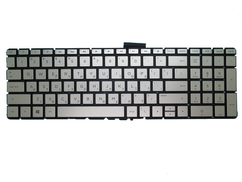 Laptop Keyboard For HP 250 G6 255 G6 256 G6 silver with backlight Without Frame Hebrew HB